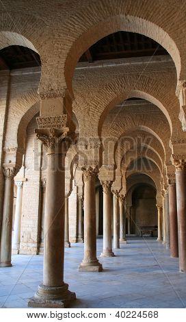 Columns at Kairouan Mosque, Tunisia