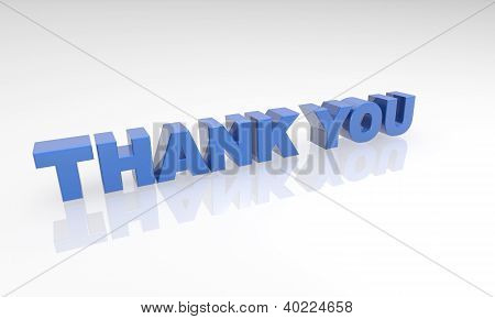 buzzword thank you 3d blue