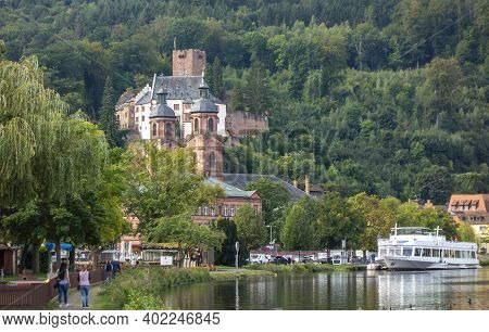 City View Of Miltenberg Including The Mildenburg In Lower Franconia, Bavaria, Germany