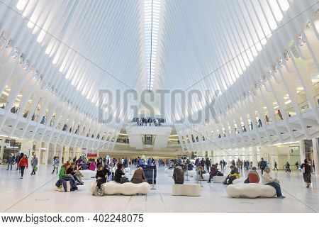 The Oculus. The Oculus Transportation Hub At New World Trade Center Nyc Subway Station. Oculus, The