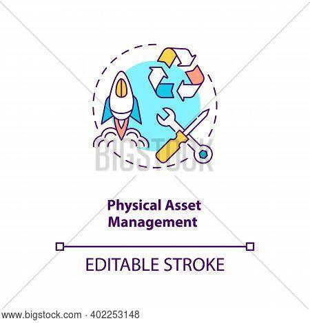 Physical Asset Management Concept Icon. Asset Management Type Idea Thin Line Illustration. Economic,