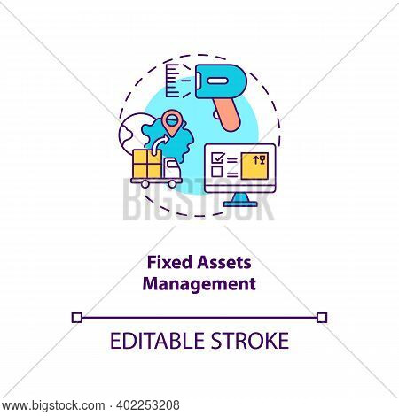 Fixed Assets Management Concept Icon. Am Type Idea Thin Line Illustration. Accounting Process. Preve