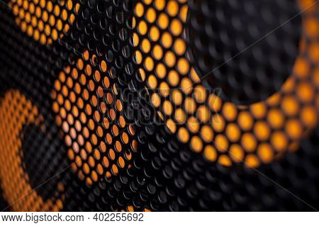 Grille And Speaker Texture. Grille And Speaker Background. Musical Background. Dj Background. Soft F