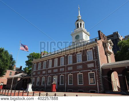 Philadelphia, Usa - June 11, 2019: Image Of The Congress Hall In Philadelphia, The Building Served A