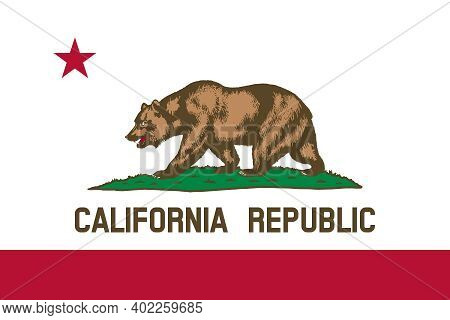 Official Large Flat Flag Of California Horizontal