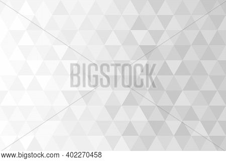 Abstract Background Pattern, Triangle Shape And Diamond Shape. Elegant White Gradient Style. Vector
