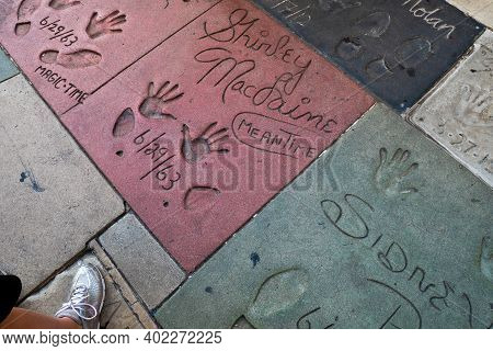 Los Angeles, Usa - June 28, 2016: View Of The Walk Of Fame In The Streets Of Los Angeles.
