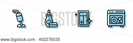 Set Line Cleaning Service For Window, Vacuum Cleaner, Dishwashing Liquid Bottle And Dishwasher Machi