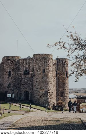 Rye, Uk - October 10, 2020: View Of Rye Castle, Also Known As Ypres Tower, An Ancient Monument In Ry