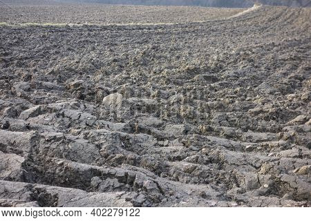 Soil On A Field In Agriculture