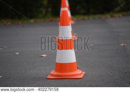 Pylon As Floor Marking Or Road Marking