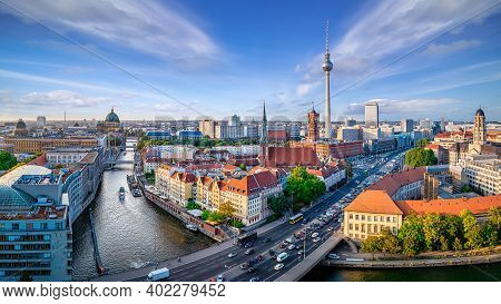 Panoramic View At Central Berlin On A Sunny Day