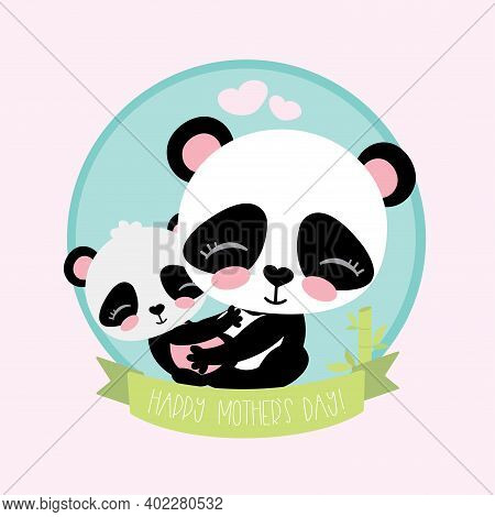 Cute And Funny Panda With Little Baby Panda