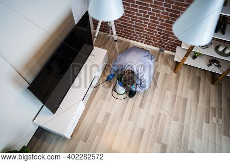 Pest Control Exterminator Services Spraying Termite Insecticide