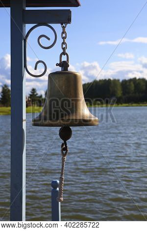 A Sea bell On The Bridge On The Lake, Close Up