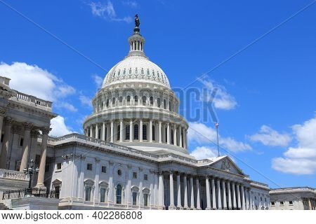 Us National Capitol. Landmark In Washington, Dc. United States Capitol.