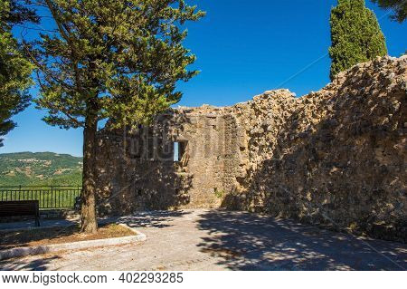 The Remains Of Remains Of Rocca Aldobrandesca, A 9th Century Fort In The Historic Medieval Village O