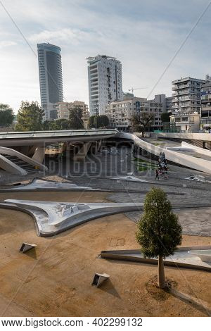 Nicosia Cyprus 06 January 2021: Cityscape Of Nicosia The Capital City Of Cyprus From Eleftheria Squa