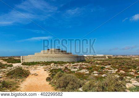 SAGRES, PORTUGAL - APRIL 10, 2019: Chamber of Sound at Fortaleza de Sagres, Algarve Monuments
