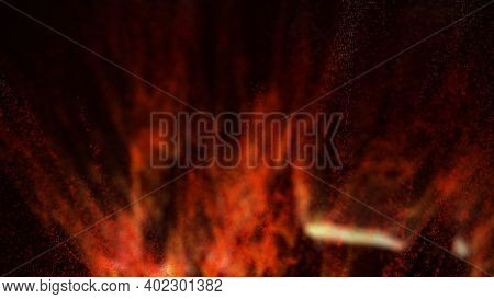 Lava Splashes. Eruption. Hot Red Lava Drops. Fiery Background.