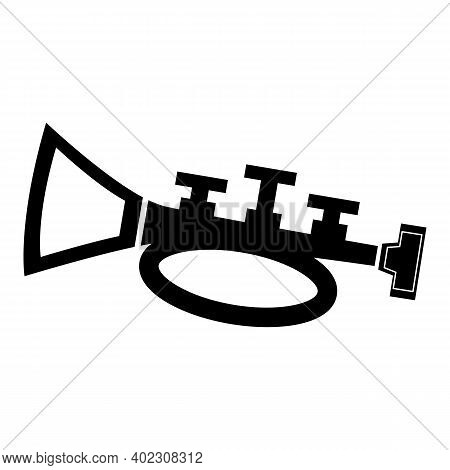 Trumpet Icon Isolated On White Background From Music Collection. Trumpet Icon Trendy And Modern Trum