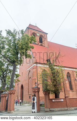 Puck, Poland - September 20, 2020: Saints Peter And Paul Church In Puck.