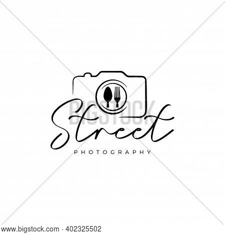 Food Photography Logo. Street Food Photography Logo Design