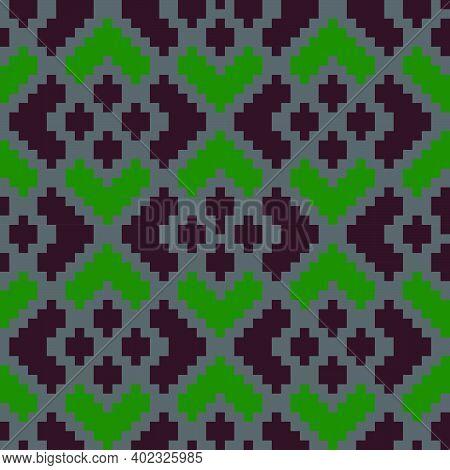 Burgundy Argyle Seamless Pattern Background