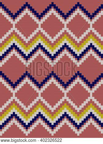 Brown Argyle Seamless Pattern Background