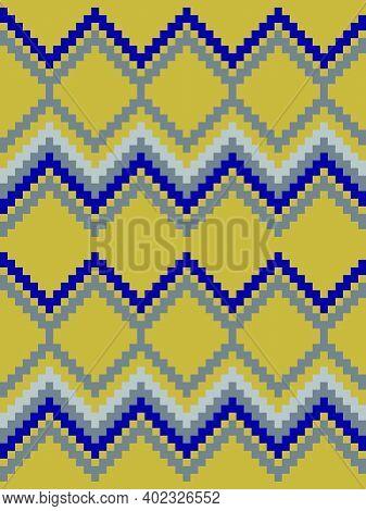 Mustard Argyle Seamless Pattern Background