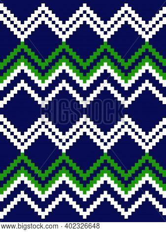 Green Argyle Seamless Pattern Background