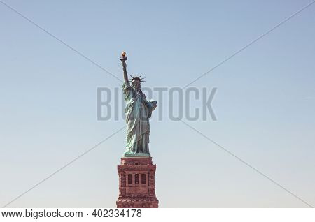 The Statue of Liberty National Monument on the Liberty island,  New York, USA.