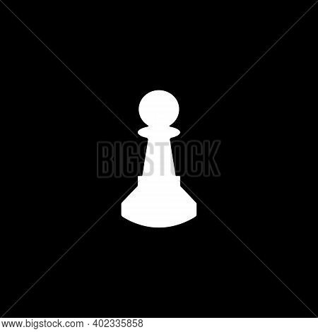 Chess Pawn Piece Vector Isolated Flat Illustration. Chess Pawn Piece Icon