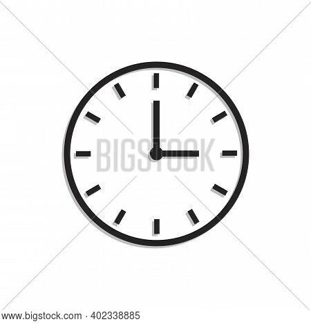 Clock Icon Symbol Illustration. Time Icon Vector. Chronometer, Timer Sign. Minimal Design. Stock Ima