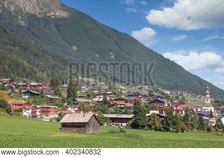 Village Of Fulpmes In Stubaital In Tirol,austria