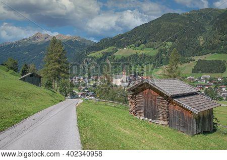 Village Of Neustift Im Stubaital In Tirol,austria