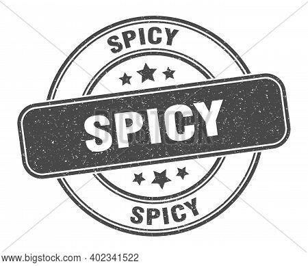 Spicy Stamp. Spicy Label. Round Grunge Sign
