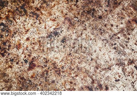 Grainy Metal Texture. Scratched Iron Surface. Rusty Noise Background. Vintage Grunge Backdrop. Destr