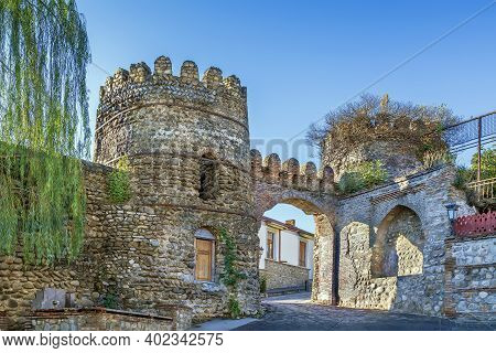 Gate With Towers In Old City Wall, Signagi, Georgia