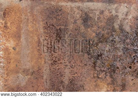 Abstract Background, Brown Metal Background Texture, Metal Steel Vintage Plate With Some Old Scratch