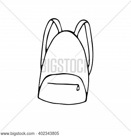 Travel Rucksack Vector Illustration Hand Drawing Sketch