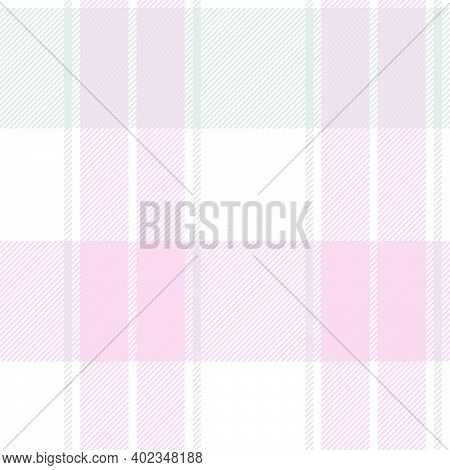 Pink Asymmetric Plaid Textured Seamless Pattern