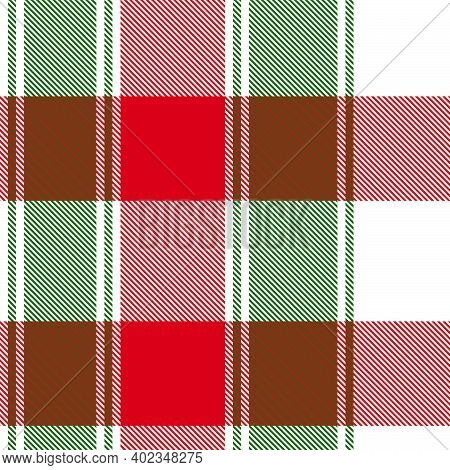 Christmas Asymmetric Plaid Textured Seamless Pattern