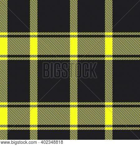 Yellow Asymmetric Plaid Textured Seamless Pattern