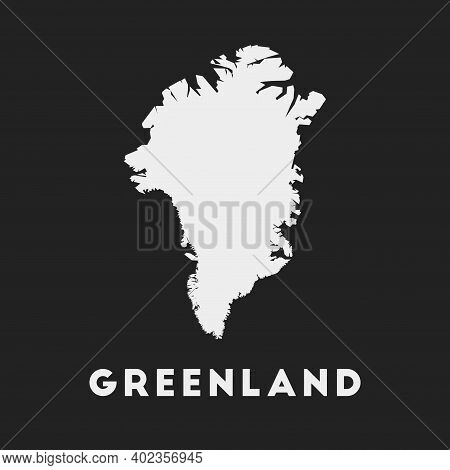 Greenland Icon. Country Map On Dark Background. Stylish Greenland Map With Country Name. Vector Illu