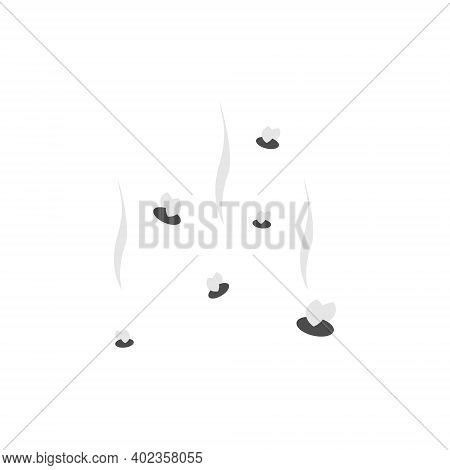 Fly With Smell Icon. Flies Insect Flying Vector Isolated On White.