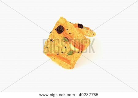 Rice Crust On White Background