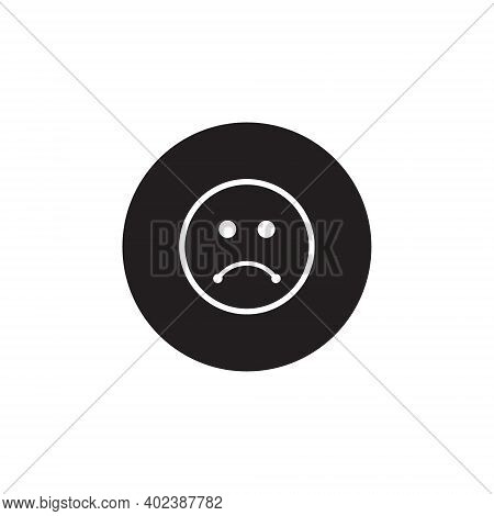 Disappointed Expression Button Icon Vector. Sad Face Symbol Illustration
