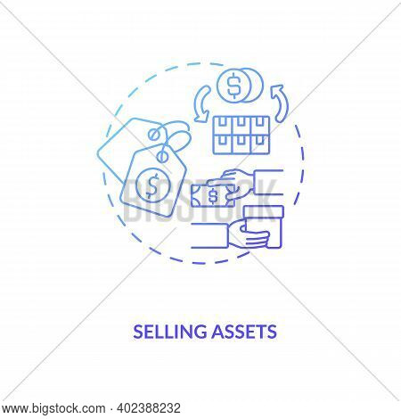Selling Assets Concept Icon. Am Component Idea Thin Line Illustration. Business Selling. Transaction