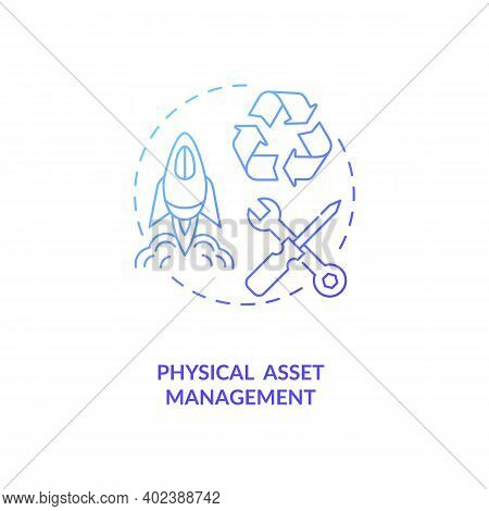 Physical Asset Management Concept Icon. Asset Management Type Idea Thin Line Illustration. Fixed And